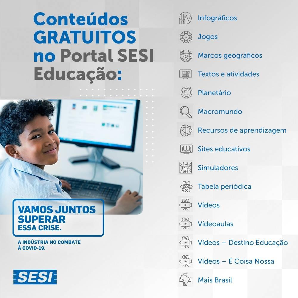 Alô, alunos da Rede SESI de ensino!