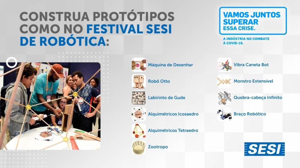 Quer fazer em casa algumas atividades do espaço 'ACESSE' do Festival SESI de Robótica?