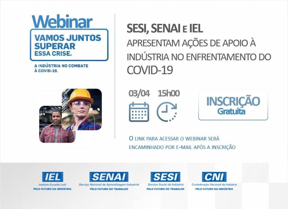 Conheça as ações do SENAI de apoio à indústria no enfrentamento do COVID-19