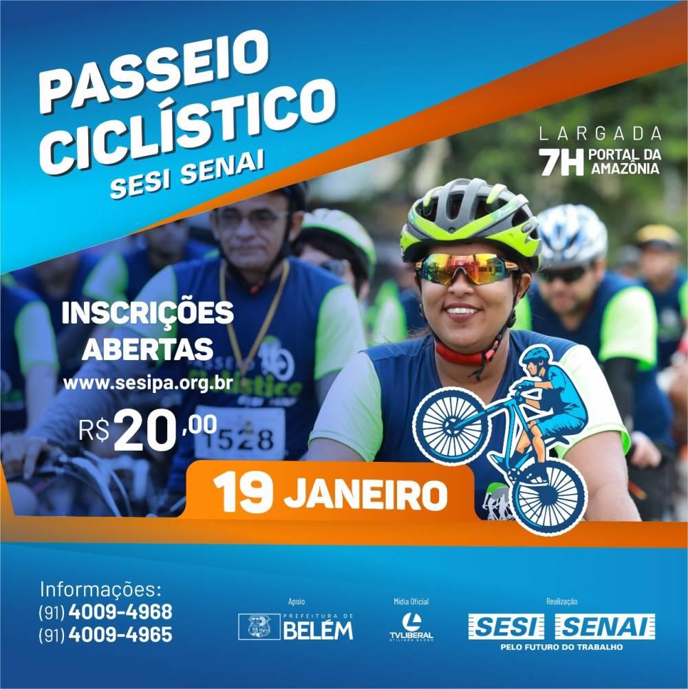 Passeio Ciclístico SESI SENAI comemora aniversário de Belém com esporte e lazer