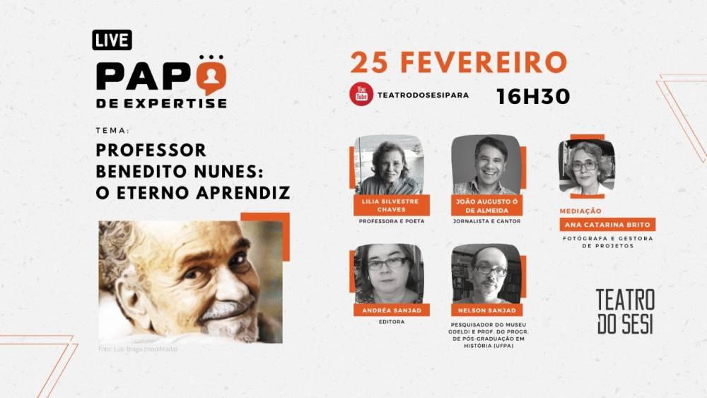 Bate-papo online celebra vida e obra do professor Benedito Nunes