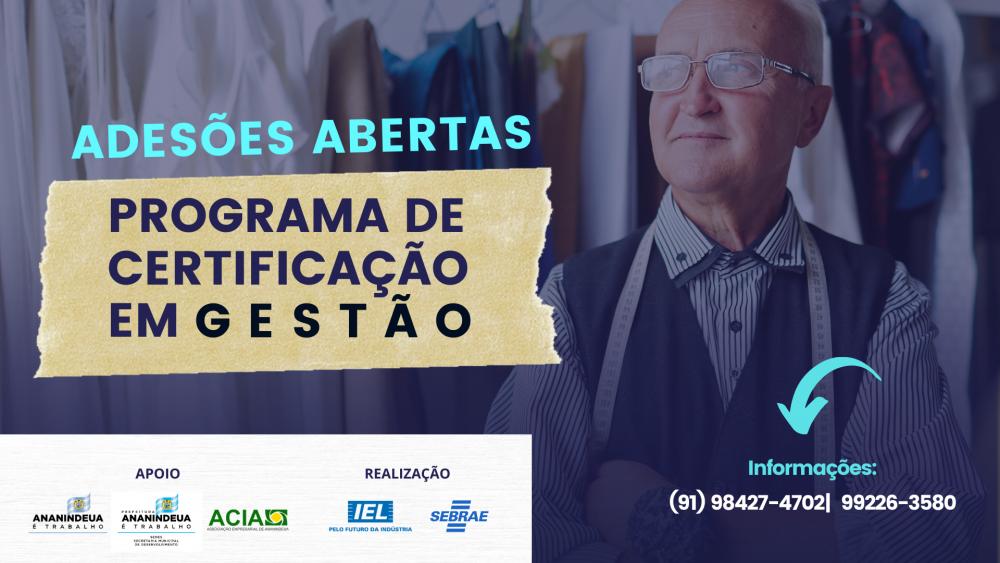 Programa de Certificação em Gestão abre adesões para empresários de Ananindeua