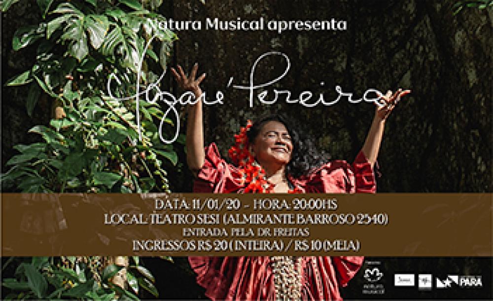 Nazaré Pereira apresenta novo disco 'Meus Caminhos, Meus Destinos' em Belém