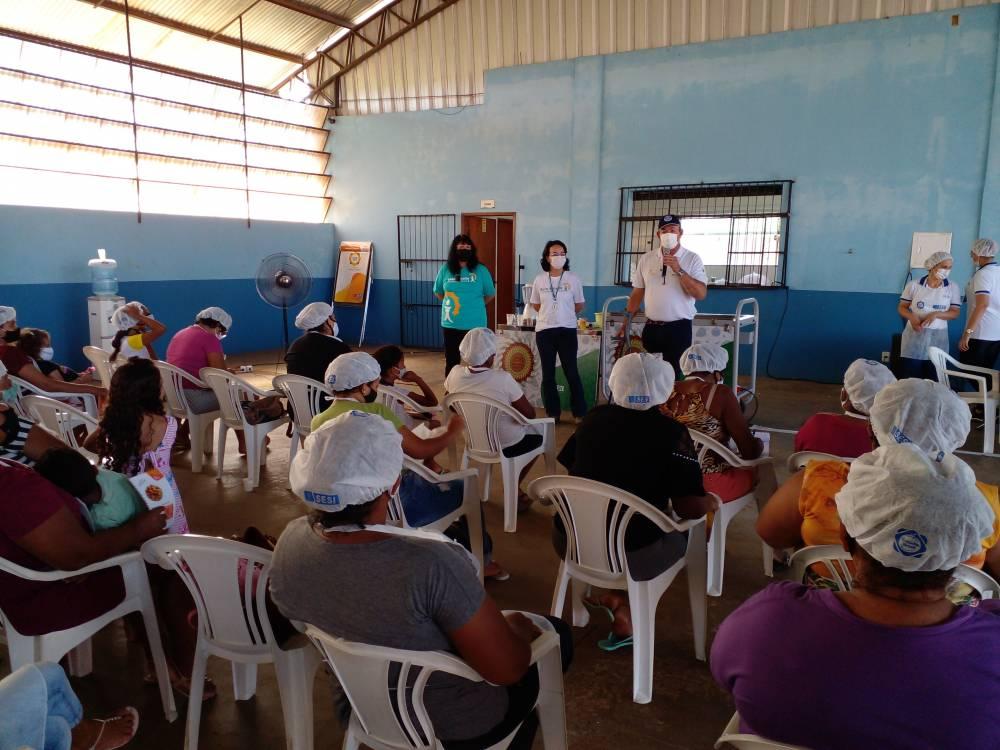 Lars Grael acompanha ação do projeto Belo Monte Comunidade voltada à alimentação saudável