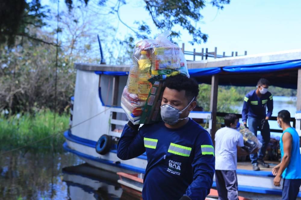 Doação de cestas básicas contribui para segurança alimentar e manutenção do isolamento social de comunidades do Oeste do Pará
