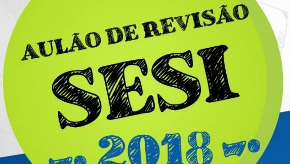 SESI abre inscrições para aulão de revisão para o ENEM 2018