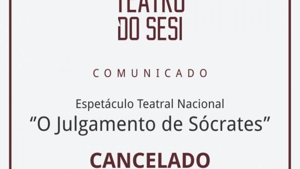 Comunicado - Espetáculo cancelado