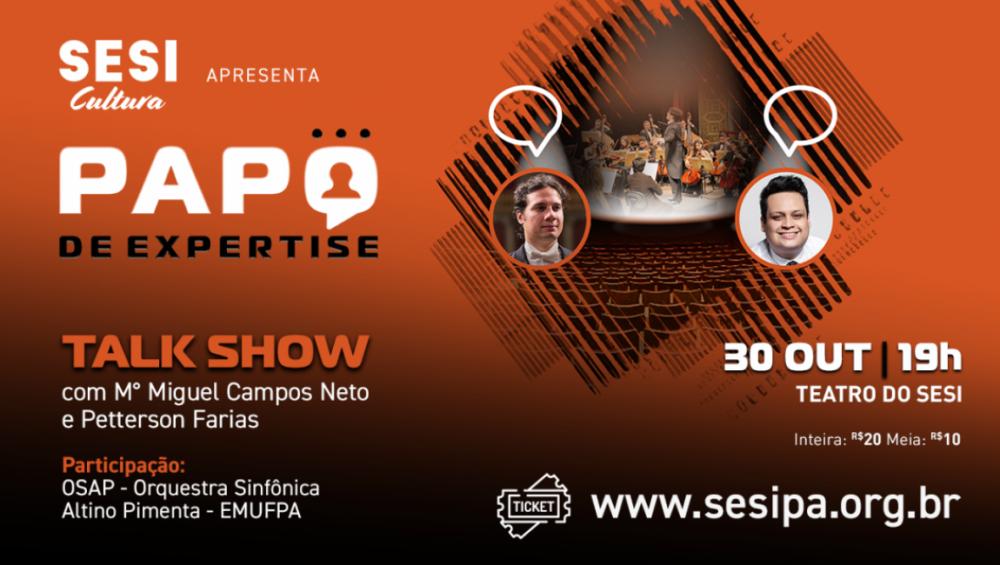 Teatro do SESI realiza Projeto Papo de Expertise para jovens paraenses