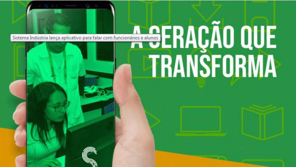 Sistema Indústria lança aplicativo para falar com funcionários e alunos