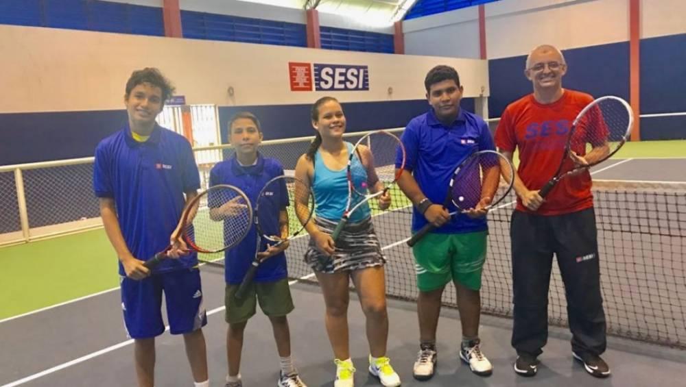 Alunos do SESI são destaque no Campeonato Paraense de Tênis