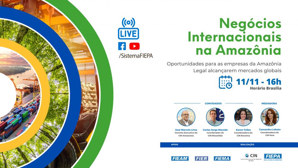 Live discute estratégias para aumentar as exportações na Amazônia Legal