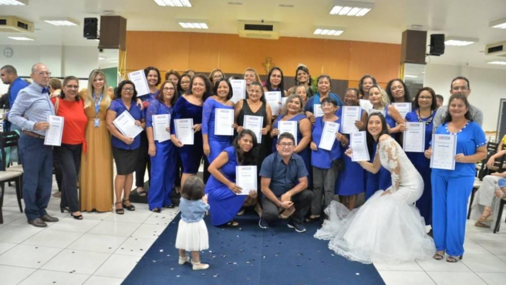 SENAI certifica alunos de curso em parceria com a Paróquia de Nazaré