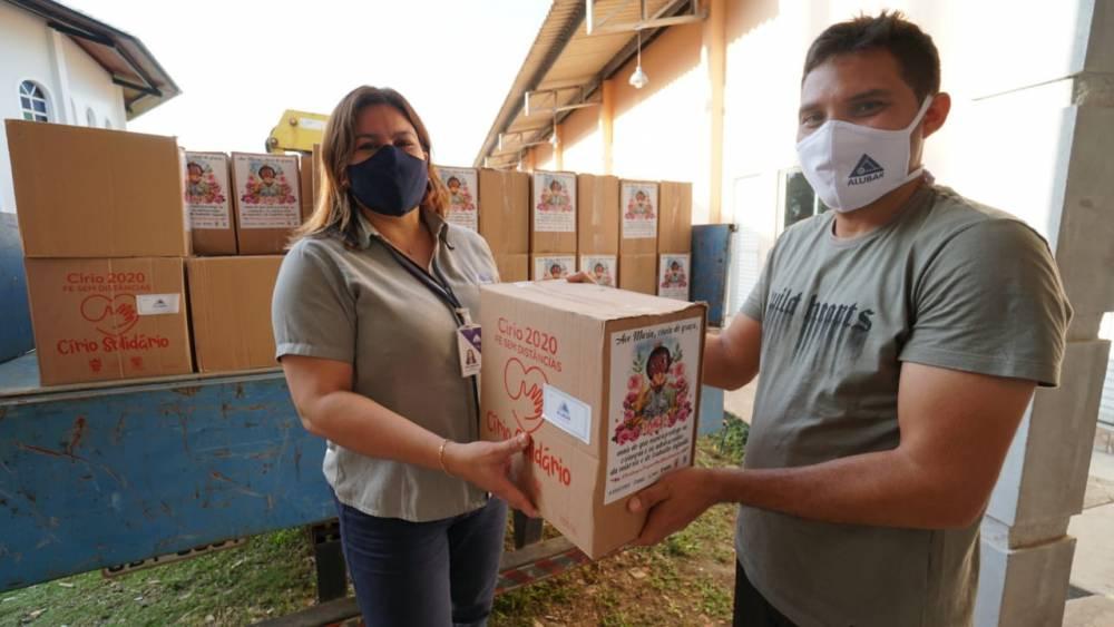 Paróquia de Barcarena recebe 500 cestas básicas em campanha de Círio